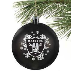 Oakland Raiders Train Ornament