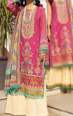Hot Pink Lawn Suit   Buy Rang Rasiya Pakistani Dresses and Clothing online in USA, UK Pakistani Lawn Suits, Pakistani Dresses, Fashion Pants, Fashion Dresses, Rang Rasiya, Add Sleeves, Lawn Fabric, Shalwar Kameez, Indian Outfits