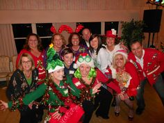 Group photo of Tacky Sweater Entrants at the Primary Residential Mortgage, Inc - Team Primary holiday party in 2011
