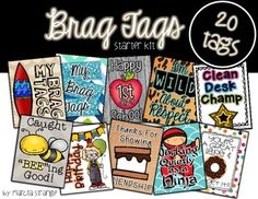 Brag Tag Starter Kit! Use these to reinforce positive classroom behaviors.