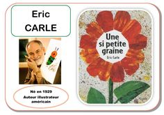 Eric Carle - Portrait d'artiste Eric Carle, History Projects, Art History, Collage Des Photos, Lesson Plans For Toddlers, Preschool Arts And Crafts, Ecole Art, History Teachers, Meet The Artist