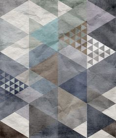 Quadrangle, blue | R12521 | Wall murals - wallpaper | Rebel Walls