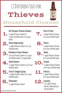 Here are 12 ways to use #thieveshouseholdcleaner. https://www.youngliving.com/vo/#/signup/new-start?sponsorid=3041966&enrollerid=3041966&isocountrycode=US&culture=en-US&type=member
