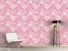 Design #Tapete Schmetterlinge Lieben Zuckerblumen