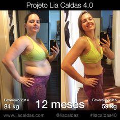 Resultado do Projeto Lia Caldas 4.0 #ProjetoLiaCaldas #Fitness #BeforeAndAfter #FitnessLifestye