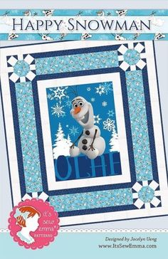 HAPPY-SNOWMAN-Quilt-Pattern-Its-Sew-Emma-Patterns-Olaf-Disney-Frozen-ISE-151