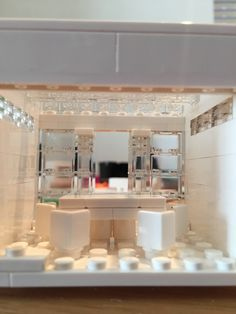 Internal view, glass roof Made with Lego Architecture Studio 21050