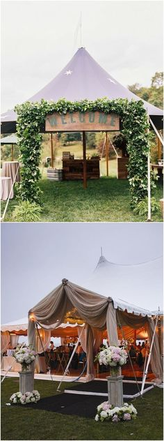 Have you been tasked with planning an outdoor wedding? Wedding tent is a common type of organization of the outdoor wedding space. Party Tent Decorations, Wedding Reception Decorations, Wedding Ideas, Wedding Ceremony, Tent Reception, Wedding Planning, Wedding Inspiration, Backyard Tent Wedding, Backyard Patio