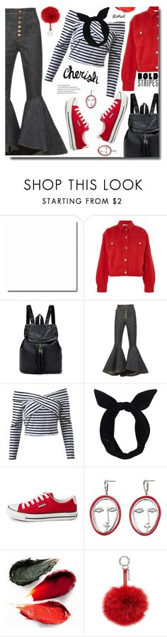 """""""Cherich"""" by soks ❤ liked on Polyvore featuring Topshop, E L L E R Y, Lulu in the Sky, MANGO, Rituel de Fille and Fendi"""