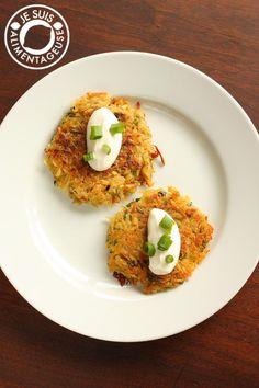 Tortitas de papas crujientes. Un plato acompañante delicioso, también estupendo para desayunos de fin de semana.