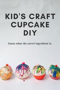 kids craft cupcake,