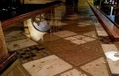 Glass Tile Bar Top My Work Projects Pinterest Bar Basements - Clear epoxy over tile
