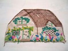 vintage embroidered cottage tea cosy