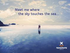 Me encontrarás donde el cielo y el mar se tocan. Tenerife, Islas Canarias // Meet me where the sky touches the sea. July 17, January, Sea Quotes, I Miss You More, Canary Islands, Love Of My Life, National Parks, Best Friends, Meet