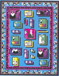 Pieced twin quilt pattern. Caterwauling Quilt Pattern WHC-1174e by Castilleja Cotton - Diane McGregor. Check out more of our quilt patterns. https://www.pinterest.com/quiltwomancom/quilts/ Subscribe to our mailing list for updates on new patterns and sales! https://visitor.constantcontact.com/manage/optin?v=001nInsvTYVCuDEFMt6NnF5AZm5OdNtzij2ua4k-qgFIzX6B22GyGeBWSrTG2Of_W0RDlB-QaVpNqTrhbz9y39jbLrD2dlEPkoHf_P3E6E5nBNVQNAEUs-xVA%3D%3D