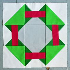 May Sugar Block. For a barn quilt, different colors would work better so it wouldn't look so seasonal.
