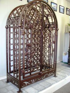 Wrought Iron Bird Cage Look Wine Rack Elegant Versatile