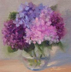 "Daily+Paintworks+-+""Hydrangea+Study""+-+Original+Fine+Art+for+Sale+-+©+Pat+Fiorello"
