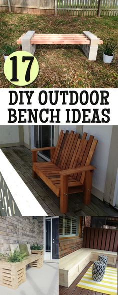 Add some extra seating area to your outdoor living space with these awesome DIY outdoor bench ideas!