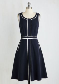 1960s piped detail dress, Roving Reporter Dress $89.99 AT vintagedancer.com
