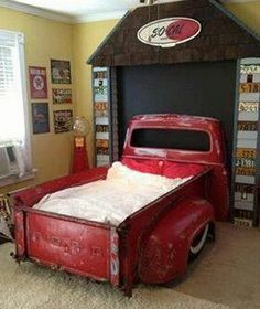 Recycled Metal Projects - ford pickup truck made into a bed