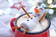 Foto: Hot chocolate with melted snowman