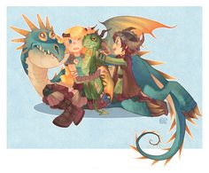 Hahaha, Astrid and Hiccup as kids.