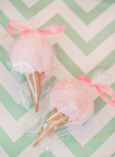 Cotton Candy Ice Cream Favors