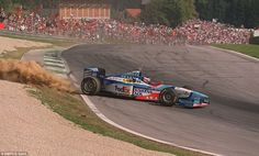 Not quite the homecoming Gerhard Berger was hoping for. On his home track Berger loses control of his Benetton after kicking up dust on corner entry. The Austrian would qualify a lowly 18th and finish in tenth, matching his worst classified finish of the 1997 season. Berger would recover to claim two fourth place finishes in the final three races but he would then retire from grand prix racing