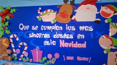 Peri dico mural septiembre classroom pinterest for Mural navideno