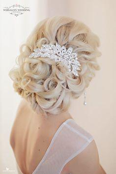 Tendinte coafuri nunta 2017 | coafura de mireasa sau nasa | Hairstyles de ocazie cu bucle | par lung elegant | impletitura lejera | Coronita cu perle si cristale #weddinghairstyles