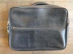 Vintage English Small Black Travel Carry Case Suitcase Holdall Carrier circa 1960-70's / English Shop by EnglishShop on Etsy