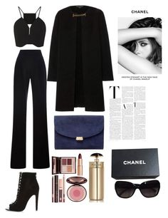 """sophisticated"" by chloe-ashforth on Polyvore featuring Rosie Assoulin, Misha Nonoo, River Island, Burberry, Mansur Gavriel, Charlotte Tilbury, Prada and Chanel"