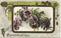 Antique Postcard Pansies Pansy Flowers by postcardsintheattic, $8.95 New Listing: #postcard #ephemera #antique #vintage #vintagepaper #etsy #antiquepaper #collectible #antiquepostcard #vintagepostcard #spring