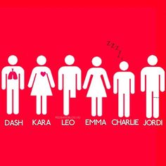 #RedBandSociety - Dash, Kara, Leo, Emma, Charlie and Jordi