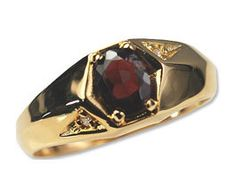MEN'S CZ & 14 KARAT YELLOW GOLD RING MADE IN U.S.A. NEW EXCEPTIONAL QUALITY!!!