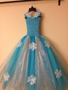 Queen Elsa inspired tutu dress and matching by LittledreamsbyMayra