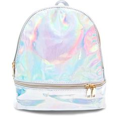Gitsie Holographic Mini Backpack (185 DKK) ❤ liked on Polyvore featuring bags, backpacks, backpack, holographic backpack, rucksack bags, mini bags, knapsack bag and holographic bags