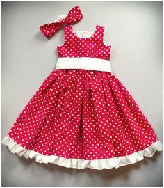 girls red polka dot dress - Bing Images