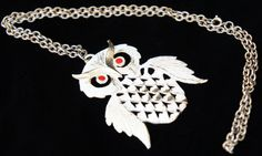 Vintage 60s Owl Necklace by SycamoreVintage on Etsy, $29.00