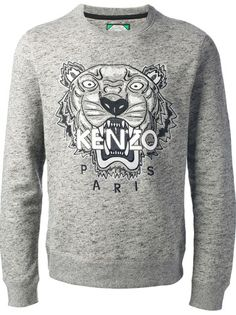 1840f4ad28c KENZO Embroidered Tiger Logo Sweatshirt Pull Kenzo Femme Tigre