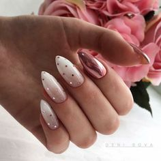 Polka Dot Nails If you love polka dots you're going to love these gorgeous nail designs we've gathered up. Take a look and get inspired by some of the best polka dot nails. Perfect Nails, Gorgeous Nails, Cute Nails, Pretty Nails, Nail Art Designs, Gel Polish Designs, Chrome Nails Designs, New Years Nail Designs, Almond Nails Designs