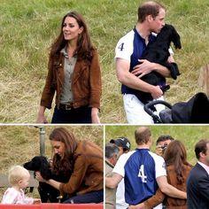 Prince William Gives Lupo a Big Kiss Alongside Kate Middleton