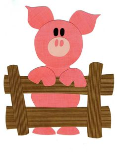 Quilt Applique Pattern/Template Farm Animal Pig, Piglet Children's Decor, DIY