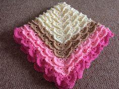 Girl fluffy meringue baby blanket Heaven Sent, Meringue, Heavenly, Stitches, Rainbow, Blanket, Crochet, Baby, Crafts