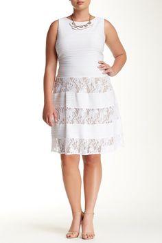 Textured Cocktail Dress (Plus Size)