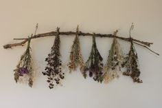 Dried wildflower garland