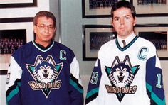 Québec Nordiques. This is what the Nordiques would have worn in the 1995-96 season had they not moved to Denver and become the Colorado Avalanche.