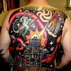 Robot Tattoo-incredible!!