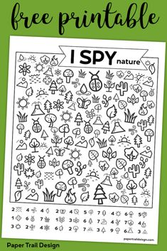 Free Printable I Spy Nature Game. Outdoor themed boredom buster game for kids to.- Free Printable I Spy Nature Game. Outdoor themed boredom buster game for kids to play on a cold rainy winter day, in the summer, or on a road trip. Learning Activities, Preschool Activities, Kids Learning, Preschool Kindergarten, Senior Activities, Educational Activities, Cognitive Activities, Road Trip Activities, Free Kindergarten Worksheets